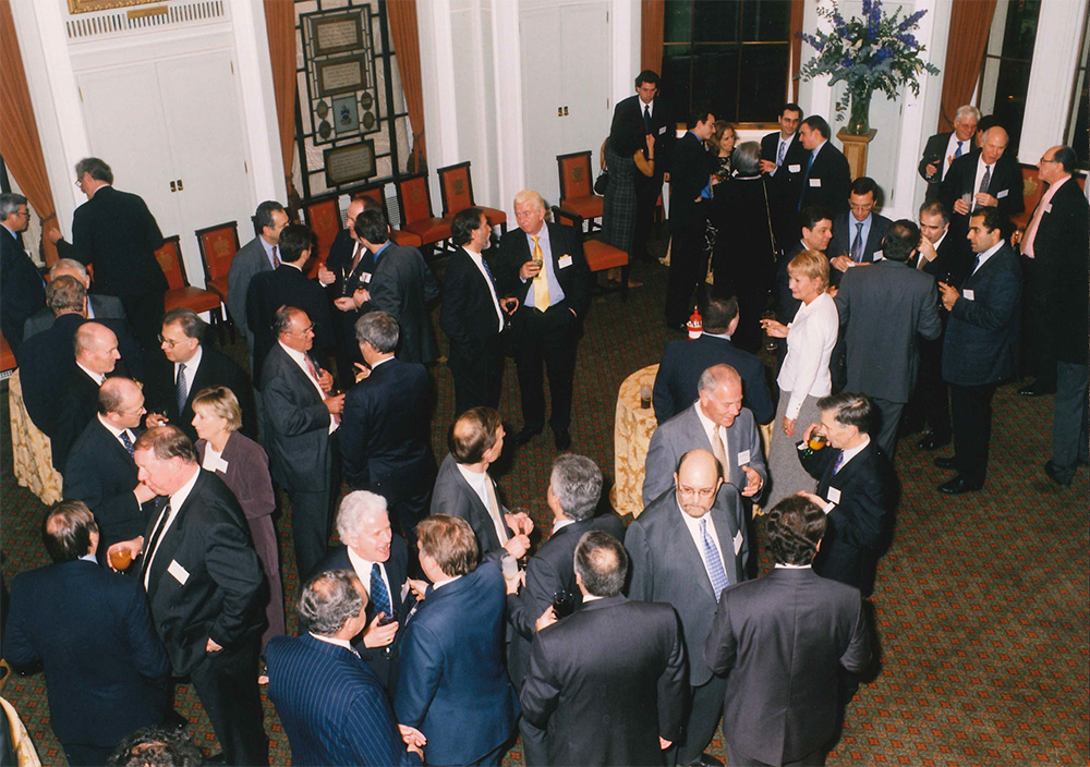 The Company celebrated 50 years in London by hosting a reception at Trinity House. Please insert the photos attached, '50th Anny 2002'